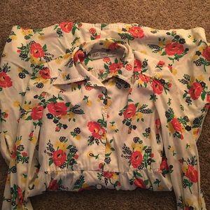 Vintage floral L/S Long Dress
